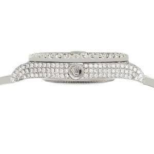 Rolex Datejust II 41mm 10.3CT Diamond Bezel/Case/Bracelet/Linen White/