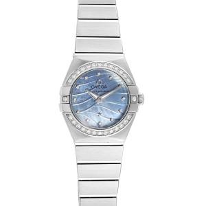 Omega Constellation Quartz 24 MOP Diamond Watch 123.15.24.60.57.001
