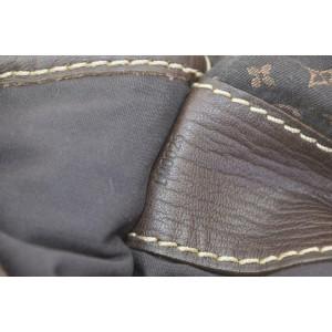 Louis Vuitton Limited Edition Initiales Amman Rope Flap 870787 Brown Monogram Mini Lin Canvas Messenger Bag