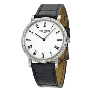 Patek Philippe Calatrava 5120G-001 18K White Gold & Leather 35mm Watch