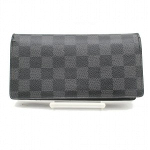Louis Vuitton Damier Graphite Brazza Long Bifold Wallet Portefeuille 871035