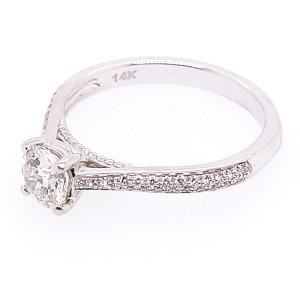 Jeff Cooper RP-1504RR5.2C14 14k White Gold Diamond Ring