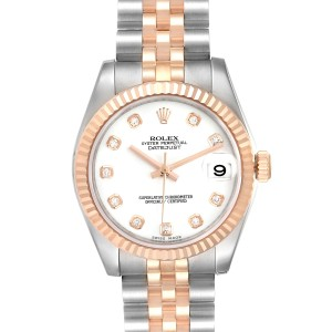 Rolex Datejust 31 Midsize Steel Rose Gold Diamond Ladies Watch 178271