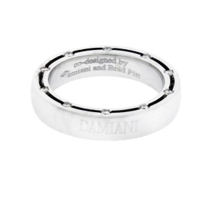 Damiani D.Side 18K White Gold & Diamond Eternity Ring Size 4.5