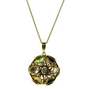 Le Vian 14K Yellow Gold Diamond Smokey Topaz Citrine & Peridot Necklace