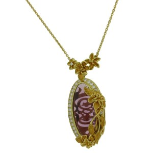 Carrera Y Carrera 18K Yellow Gold Amethyst, Diamond Pendant