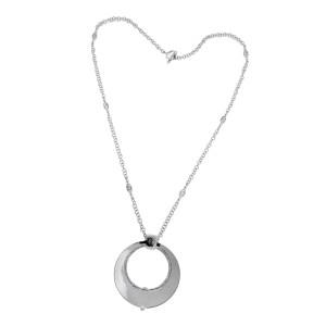 Philippe Charriol 18K White Gold & Diamond Necklace