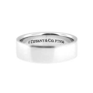Tiffany & Co. Designer Heavy Thick Platinum High Fashion Mens Band Ring