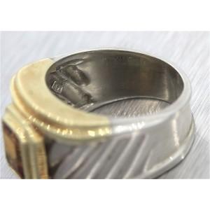 Ladies David Yurman 925 Silver 14K Gold  Ring