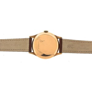 Vintage  Charles Nicolet Tramelan 188-18 15-Jewel 18K Rose Gold Vintage Watch