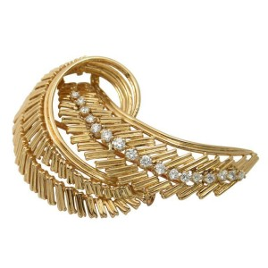 Cartier French Gold Vintage Diamond Brooch