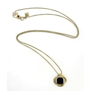 David Yurman 18K Yellow Gold Black Onyx Necklace