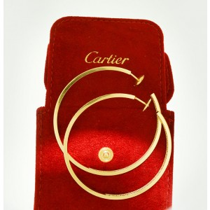 Cartier 18k Gold And 3ct Diamonds Earrings