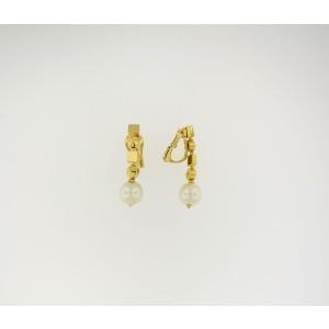 Bulgari Lucea 18k Yellow Gold Pearl Earrings