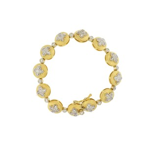Moda Italia 18 K Yellow Gold Diamonds Stylish Bracelet