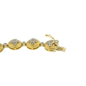 Moda Italia 18 K Yellow Gold Diamonds Stylish Bracelet