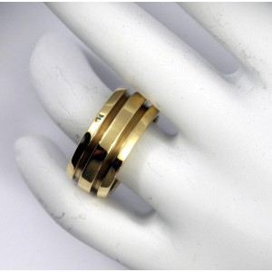 Tiffany & Co. Satin and High Polished Gold Band Ring