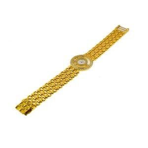 Chopard 'Happy Diamonds' Women's 18K Yellow Gold With Diamonds Watch