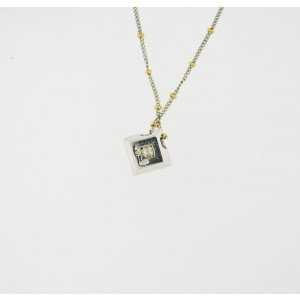 18K Yellow and White Gold Diamond Pendent Necklace