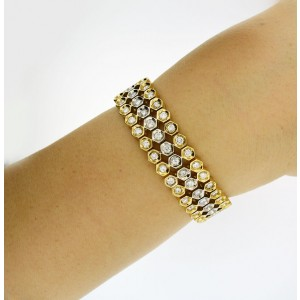 18K White And Yellow Gold Diamond Bracelet