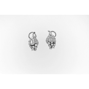 Platinum Dangle Diamond And Sapphire Changeable Earrings