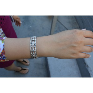 Art Deco Platinum and Diamond Bracelet