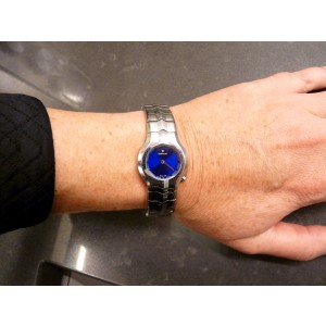 Tag Heuer Alter Ego WP1413 Royal Blue Dial Stainless Steel Womens Watch