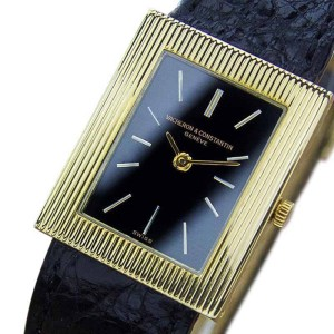 Vacheron Constantin 18K Yellow Gold & Leather 23mm Watch