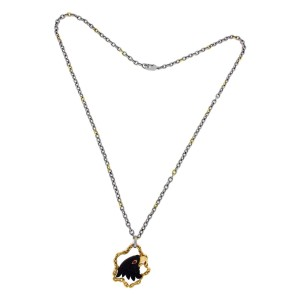 Carrera y Carrera 18K Yellow Gold Stainless Steel Tourmaline Eagle Necklace