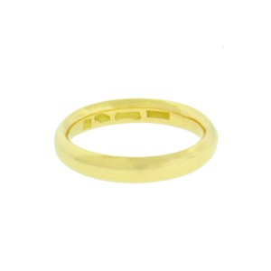 Bulgari 18K Yellow Gold Band Ring Size 9