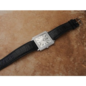 Piaget Protocole LV53 18K White Gold / Leather 33mm Mens Watch