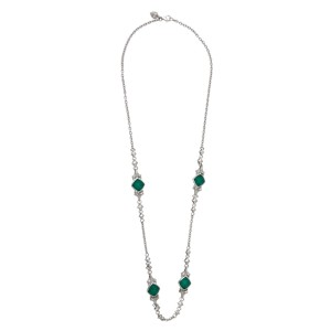Stephen Webster 925 Sterling Silver Superstud Green Crystal Haze Necklace