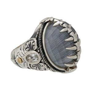 Stephen Webster 925 Sterling Silver Jewels Verne Crystal Haze Fish Skeleton Silver Ring Size 6