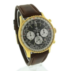 Breitling Navitimer Twin Jet Panda 7806 7740 Gold-Plated Stainless Steel 41mm Mens Watch