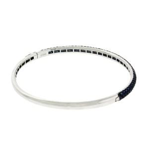 Effy 14K White Gold 2.68ct Sapphire Bangle Bracelet