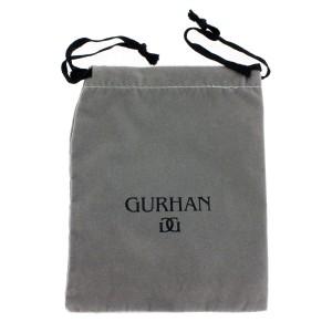 Gurhan 925 Sterling Silver Edge Shiny Shield Star Boom Lightning & Guitar Cufflinks