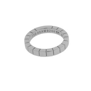 Cartier Lanieres 18K White Gold Band Ring Size 4.75