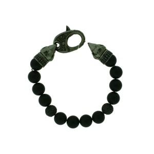 Stephen Webster 925 Sterling Silver Black Sapphire Bead Bracelet