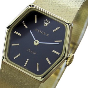Rolex Orchid 18K Yellow Gold Vintage 23mm Womens Watch