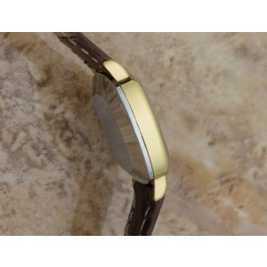 Longines Gold Plated Stainless Steel & Leather Manual Vintage 21mm Womens Watch 1980s