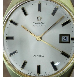 Omega DeVIlle Gold Plated Stainless Steel & Leather Automatic 35mm Mens Watch 1968