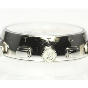 Louis Vuitton Tambour Q132C Stainless Steel & Rubber Quartz 34mm Womens Watch