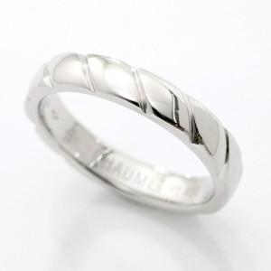 Chaumet PT950 Platinum Torsade Ring Size 8.75