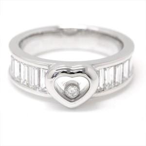 Chopard Happy Diamond 18K White Gold with Diamond Heart Ring Size 7.5