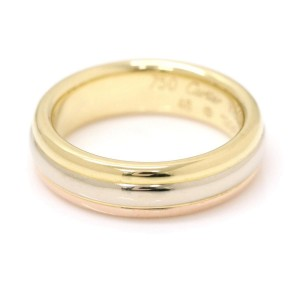 Cartier Trinity 18K Yellow, White & Pink Gold Ring Size 3.5