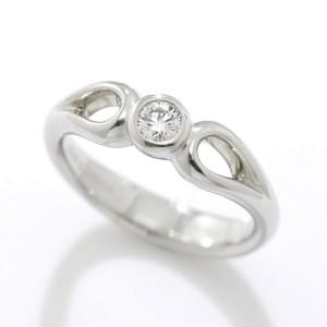 Tiffany & Co. 950 Platinum & Diamond Ring Size 5