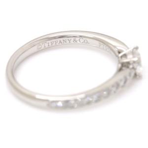 Tiffany & Co. 950 Platinum with 0.24ct Diamond Harmony Ring Size 4