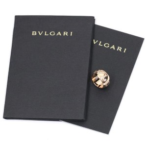 Bulgari Monologo 18K Pink Gold with Diamond Ring Size 4.25