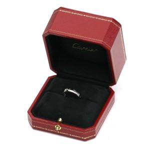 Cartier Happy Birthday 18K White Gold Logo Ring Size 5