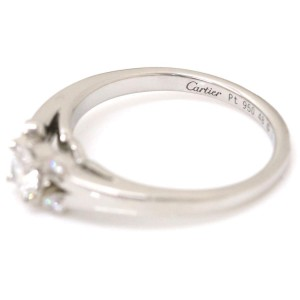 Cartier Ballerine Platinum with 0.24ct Diamond Ring Size 4.5